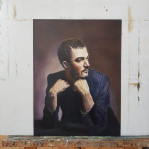 Oil painting Tom Smith band Editors