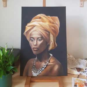 African woman with necklace